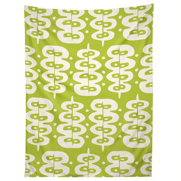Heather Dutton Fern Frond Green Tapestry