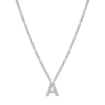 JUST BE YOU SILVER INITIAL NECKLACE