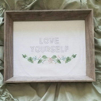 BTS Love Yourself Cross Stitch