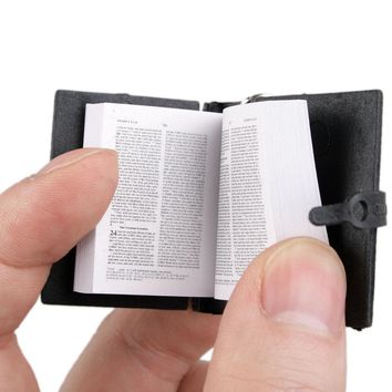 [wamami] 05# Black Cute Holy Bible Book For MSD SD DOD BJD Dollfie