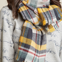 Willamette Wanderings Plaid Blanket Scarf in Sunrise