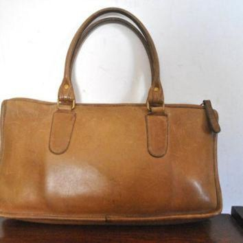Coach Bag / Brown Doctor Speedy Handbag Purse / Bonnie Cashin - Beauty Ticks