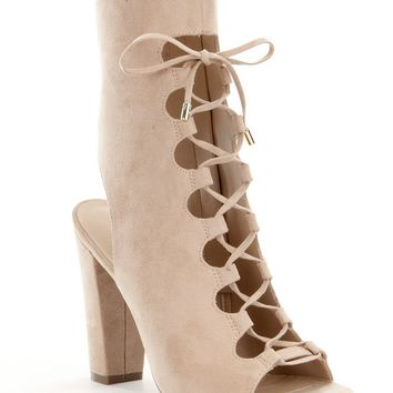 Guess Laila 2 Lace-Up Peep Toe Shooties | Dillards