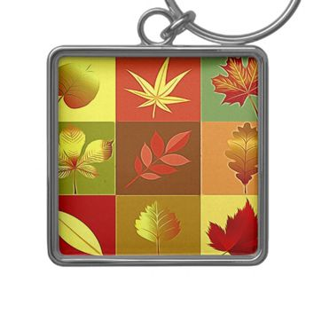 Colours in autumn keychain