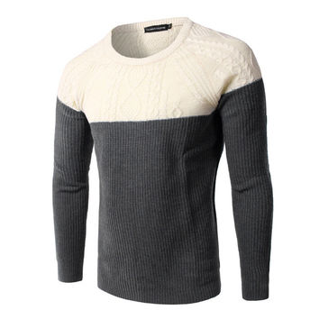 Long Sleeve Korean Slim Men Sweater = 6458608067