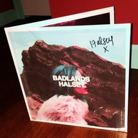Halsey Badlands autographed LP cover. THERE IS NO RECORD INCLUDED. ...