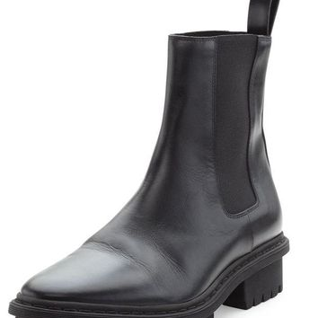 ONETOW leather tread sole chelsea boot noir balenciaga 2