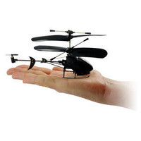 ThinkGeek :: Black Stealth 3-Channel R/C Helicopter