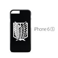 Attack on Titan Scouting Logo Black iPhone 6s Case