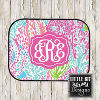 Car Mats Sea Weed Personalized Monogrammed Floor Car Mat