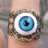 eye ring Adjustable Band by sweethearteverybody on Etsy