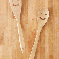 Bamboo Smile Serving Utensil Set | Urban Outfitters