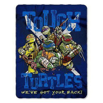 Teenage Mutant Ninja Turtles Turtle Blues 46x60 Soft Fleece Throw Blanket
