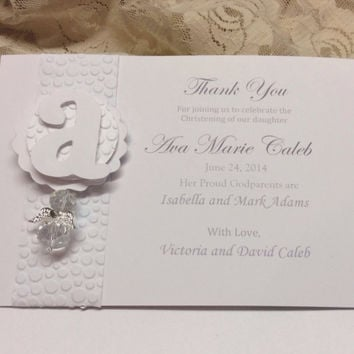 40 pcs Baptism Favor cards, Communion Favors, elegant monochromatic favor cards