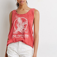 Braided-Strap Tour Graphic Tank