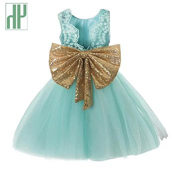 Girls summer dress Sleeveless Bow Lace Tulle Princess Wedding Elegant toddler Dresses Kids Party Dresses for Girls Clothes