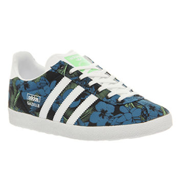 Adidas Gazelle Og W Black White Green Print - Hers trainers