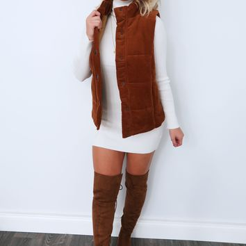 Afternoon Together Vest: Chestnut