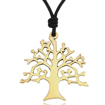 Life Tree Necklace Pendant Jewelry With Cotton Cord