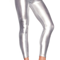 Shiny Lame Footless Tights