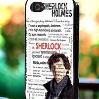 Silicone - Plastic - BBC Sherlock Holmes Quote - iPhone 4/4s, 5, 5s, 5c, Samsung S3, S4