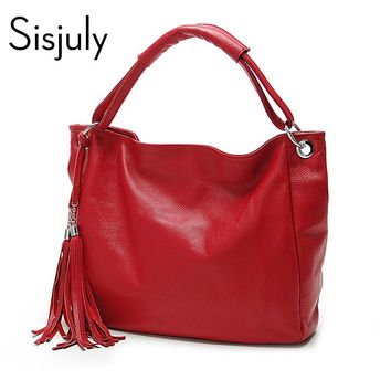 Sisjuly 2017 New Leather Bag Women Handbags Tassel Female Bag Crossbody Women's Shoulder Bags Ladies Casual Tote Sac A Maine