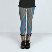 Abstract Stripes by Christy Leigh (Leggings)