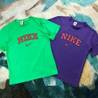 NIKE 2018 summer retro sports loose short sleeve classic printed letter casual T-shirt F-XMCP-YC