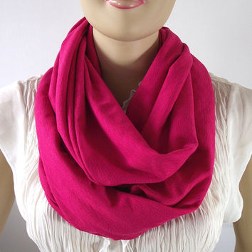 Infinity Scarf...Raspberry Scarf...Circle scarf...loop scarf...Tube Scarf...Chunky Jersey Cotton Scarf...Nomad Cowl