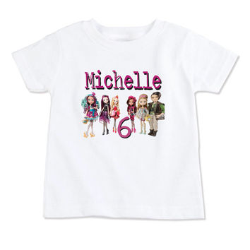 T-Shirt-Birthday T-Shirt-Party T-Shirt-Personalized-Custom T-Shirts- Party Favor-Party Decor-EVH-Ever After High