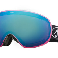 Electric - EG3.5 Volcom Co-Lab Goggles, Rose/Blue Chrome Lenses