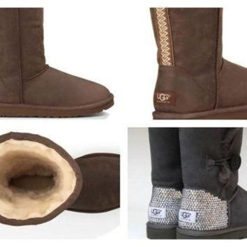 DCCK8X2 Custom UGG Boots made with Swarovski Classic Tall Tasman Free: Shipping, Repair Kit, C