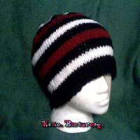 Men's Red Black and White Hat