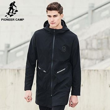 New Spring long jacket coat men clothing fashion windbreak jacket male top quality overcoat