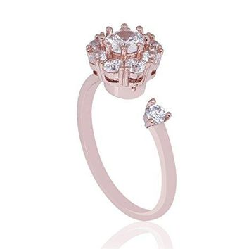 Vesungimey AntiAnxiety Rotating Engagement Wedding Cubic Zirconia Ring For WomenSurprise Gifts Jewelry For Relieving Boredom ADHD AnxietyAutism