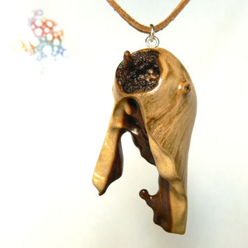 petrified necklace pendant by gift naturalists carved hand pin wood wooden arsmakars