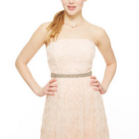 Jewel Belted Soutache Dress