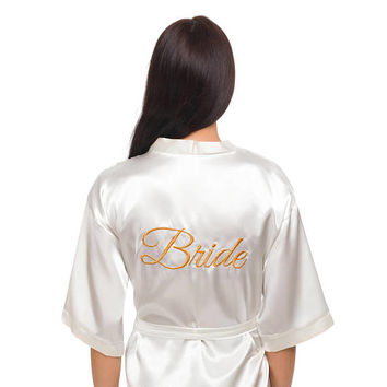 Women's robe, satin robe, bride robe, bridal robe, bridesmaid robes, bridesmaid gifts, bridal robe set, cheap robes, personalized robes