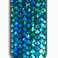 iPhone 5C Case - Rubber (TPU) Cover with Mermaid Scales Rubber Case Design