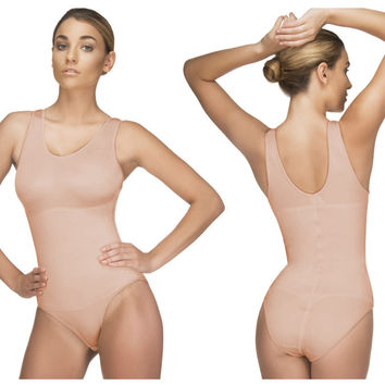 Vedette-106-Ines Shaping Tank Bodysuit-Nude-S