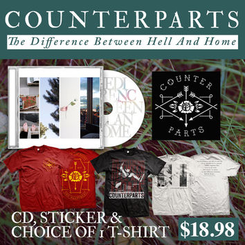 Counterparts: CD, Sticker And Choice Of T-Shirt Package