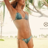 Safari Triangle Top  Tieside Bottom - Vix - Swimwear