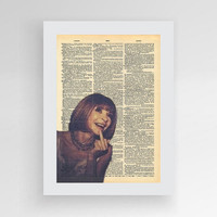 Instant Download,Fashion Digital Print, Anna Wintour Poster, Anna Wintour, Vogue Art, Vogue Poster,, Fashionista, Upcycled Book Dictionary
