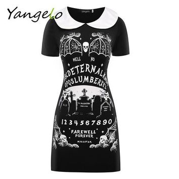 ICIKHY9 HARAJUKU DRESS PUNK BLACK FURIOUS FAITH DRESS GOTHIC 2016 NEW