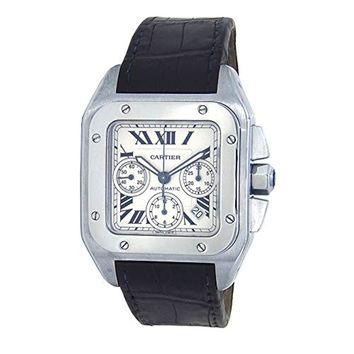 Cartier Santos 100 Automatic-self-Wind Male Watch W20090X8 (Certified Pre-Owned)