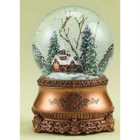 Snow Globe - Red Church Scene