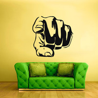 rvz1669 Wall Decal Vinyl Sticker Art Bedroom Decal Hand Finger Are You Any Sign