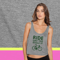 ride like you stole it - bicycle ladies' flowy tanktop