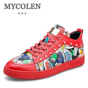 MYCOLEN 2018 Selling Men High Quality Fashion Hot Sale Casual Shoes Breathable Brand Comfortable Red Sneakers Men Shoes