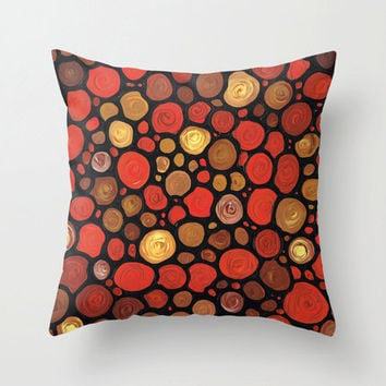 Throw Pillow Cover Mosaic Design Brown Red Home On Sofa Bed Chair Or Couch Decor Artsy Decorating Made Easy Living Room Bedroom Bedding
